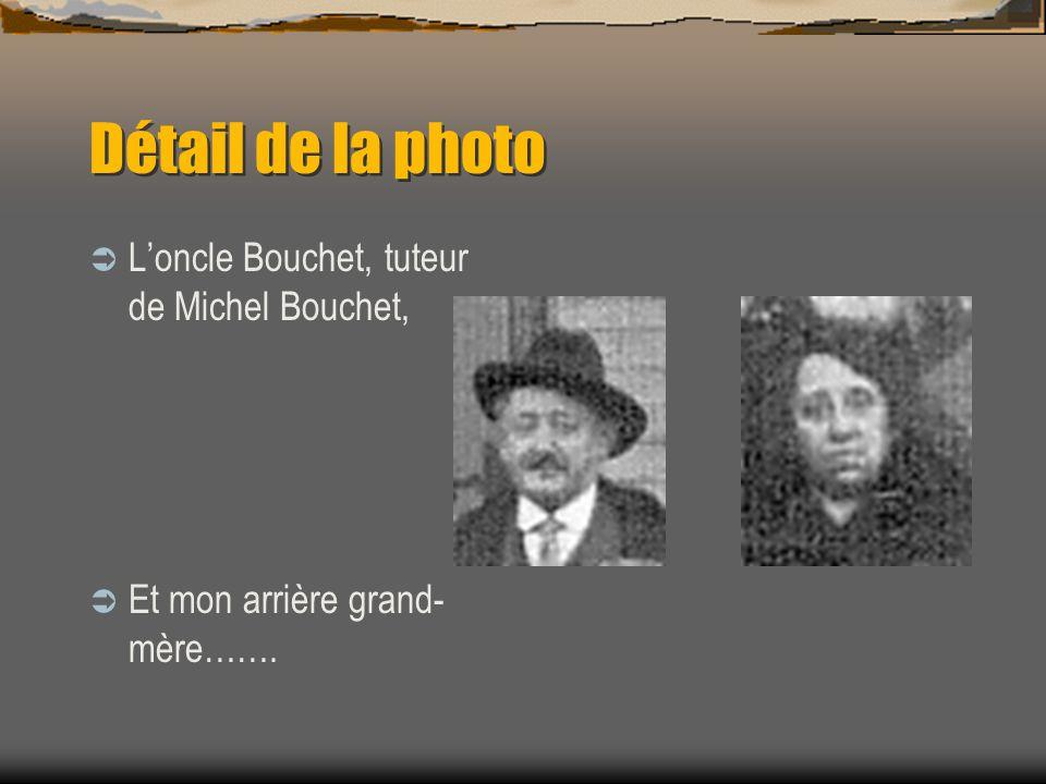 Détail de la photo, de gauche à droite Le fils de Gaby et Alfred, Antoine Et les mariés. Paul, le frère de ma grand-mère, et sa femme, Suzanne.