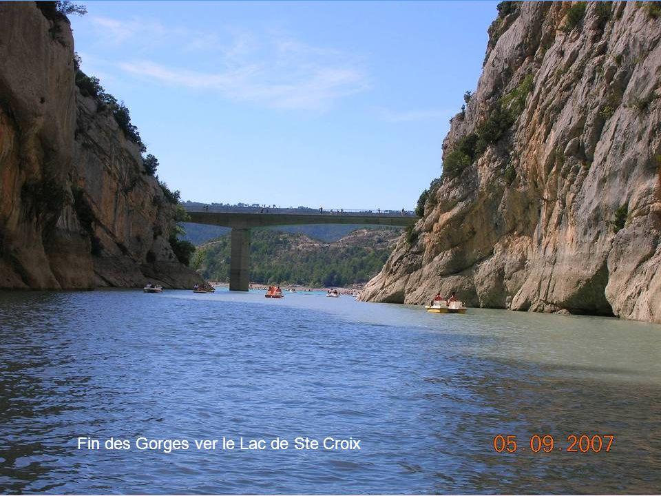 Fin des Gorges ver le Lac de Ste Croix