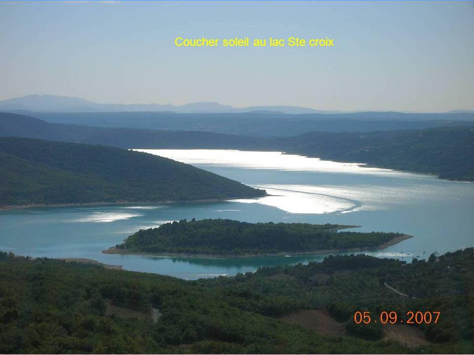 Coucher soleil au lac Ste croix