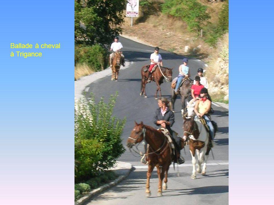Ballade à cheval à Trigance