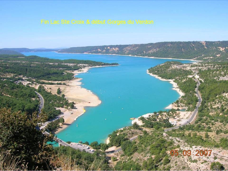Fin Lac Ste Croix & début Gorges du Verdon