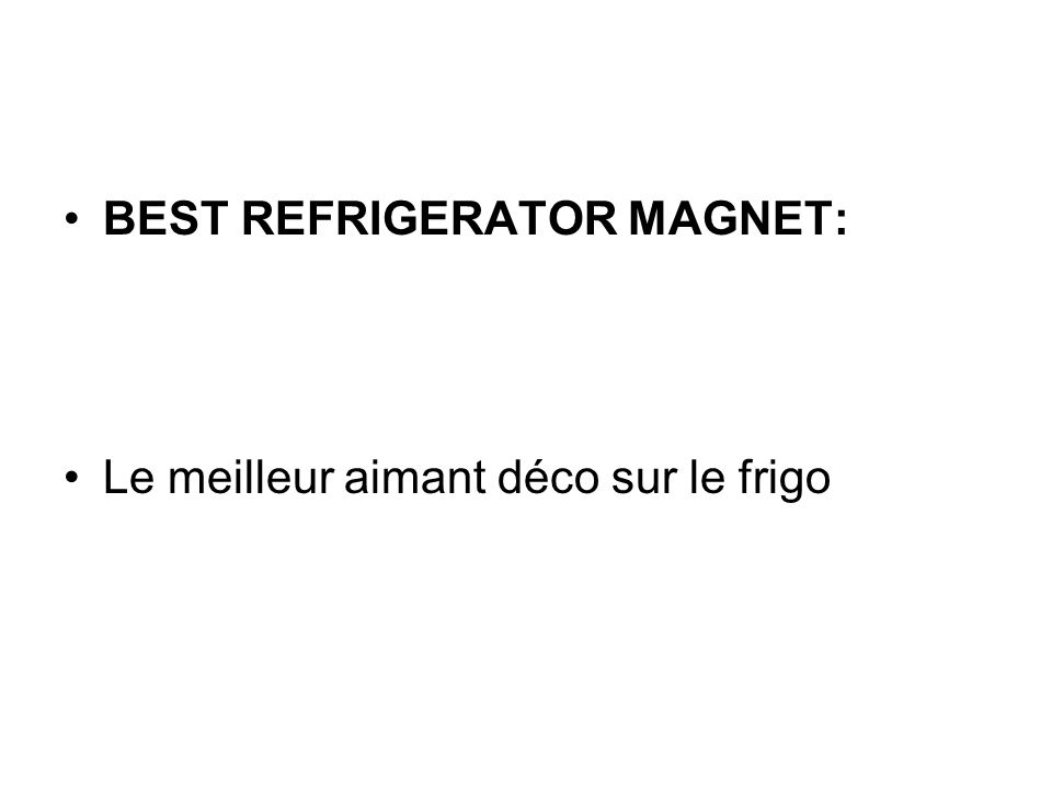 BEST REFRIGERATOR MAGNET: Le meilleur aimant déco sur le frigo