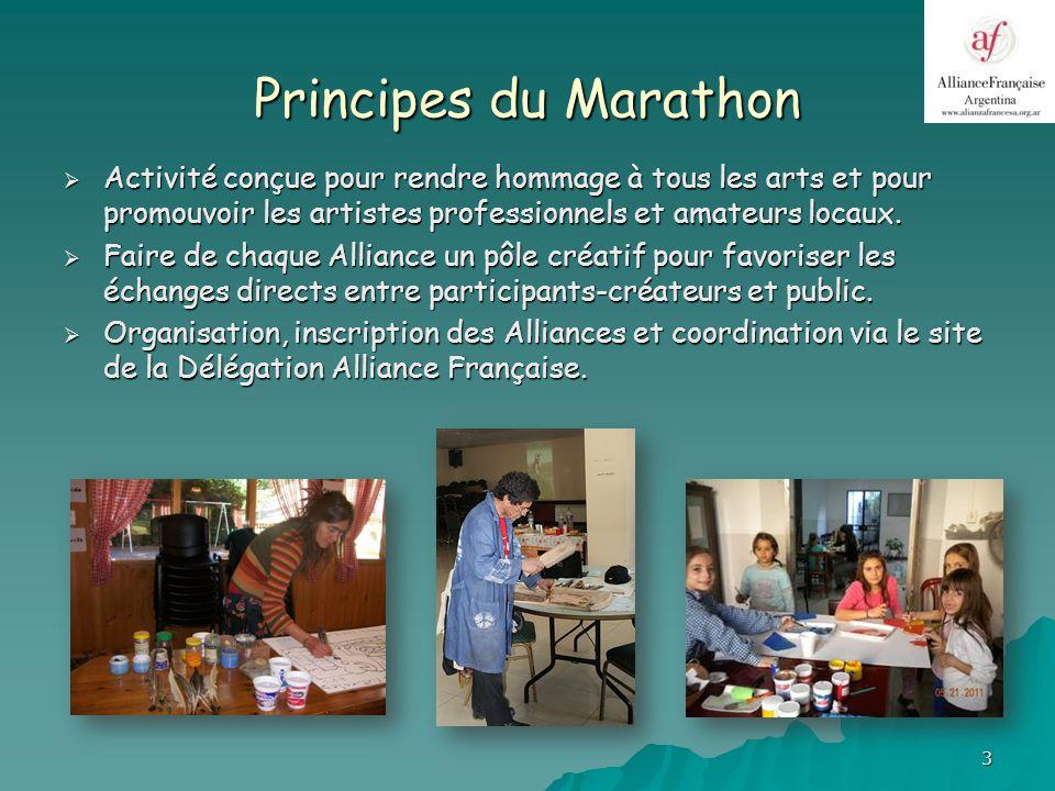 4 Précédentes éditions Événement créé par lAlliance Française de Bella Vista en 2007, il sétend au reste du pays en 2008 et atteint en 2011 le record de 31 Alliances participantes.