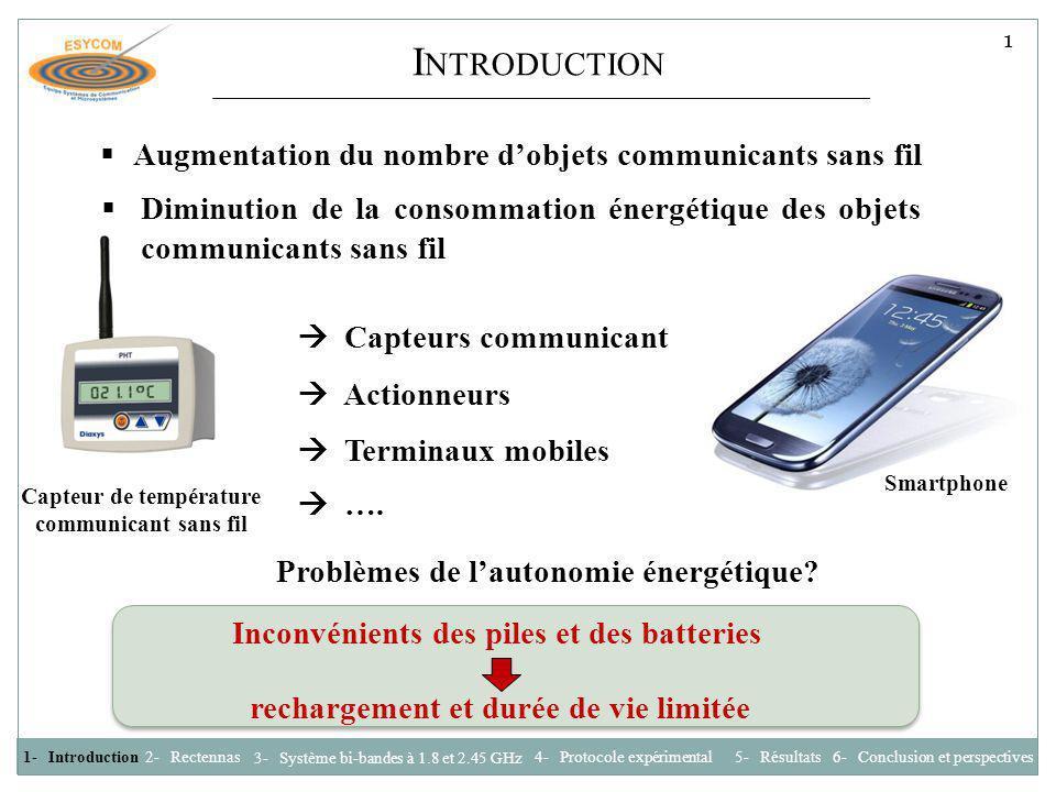 I NTRODUCTION Comment améliorer lautonomie énergétique des dispositifs sans fil .