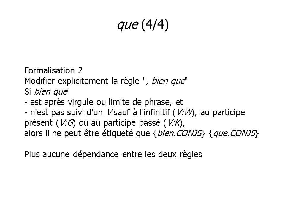 que (4/4) Formalisation 2 Modifier explicitement la règle