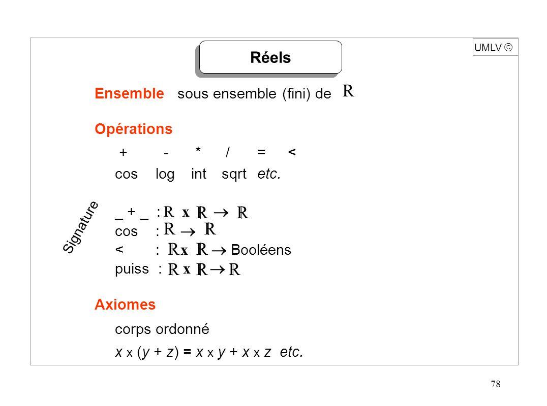 79 UMLV Implémentation (standard IEEE) x = ( -1 ) s.