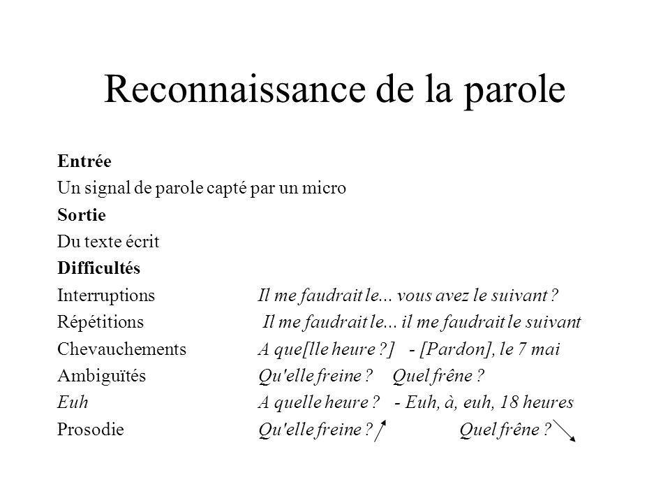 Reconnaissance des types d actes de dialogue Utilisation de la syntaxe des phrases affirmBJe dois voyager en mai.