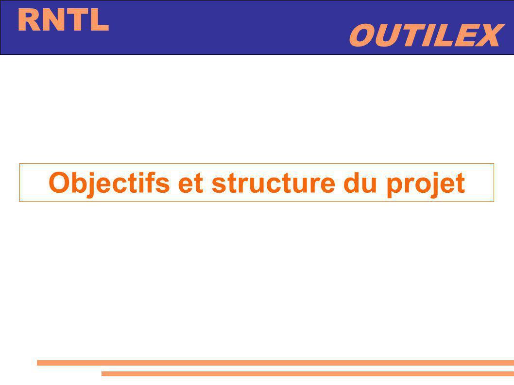 OUTILEX RNTL Objectifs et structure du projet