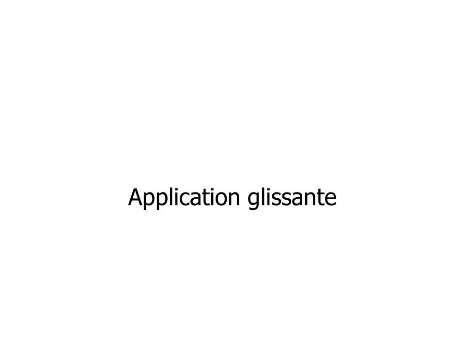 Application glissante