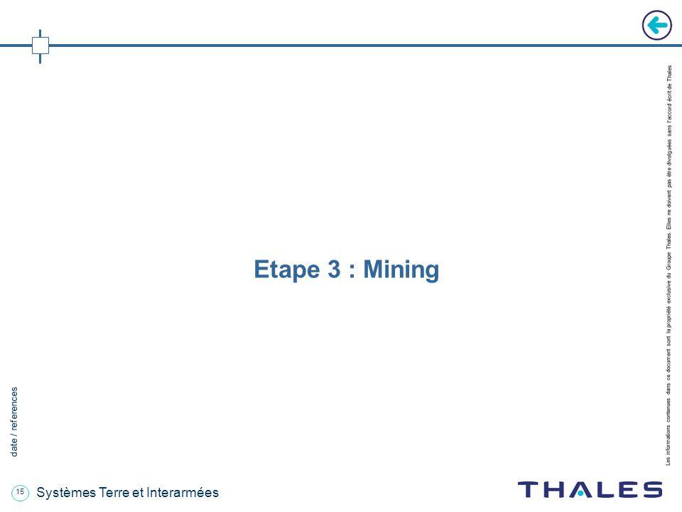 15 date / references Les informations contenues dans ce document sont la propriété exclusive du Groupe Thales.