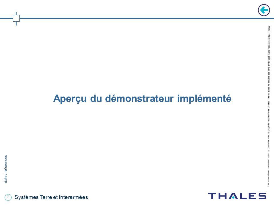 7 date / references Les informations contenues dans ce document sont la propriété exclusive du Groupe Thales.