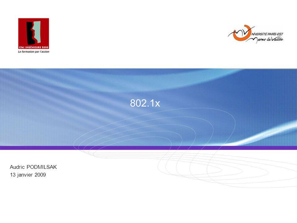 Plan de la présentation 1.Quest ce que 802.1x . 2.