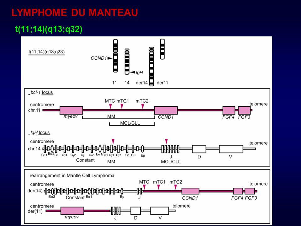 Caryotype : 70% FISH : > 95% +++ PCR +/-