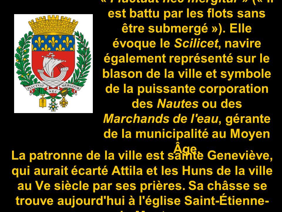 La devise de Paris est « Fluctuat nec mergitur » (« Il est battu par les flots sans être submergé »).