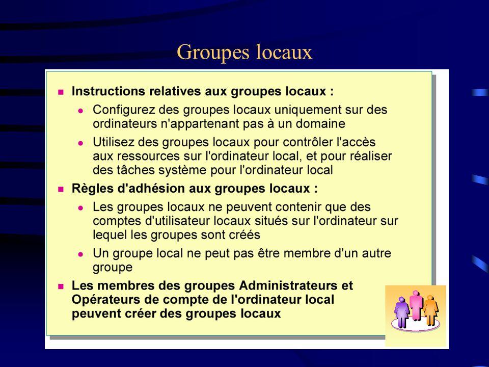 Groupes locaux