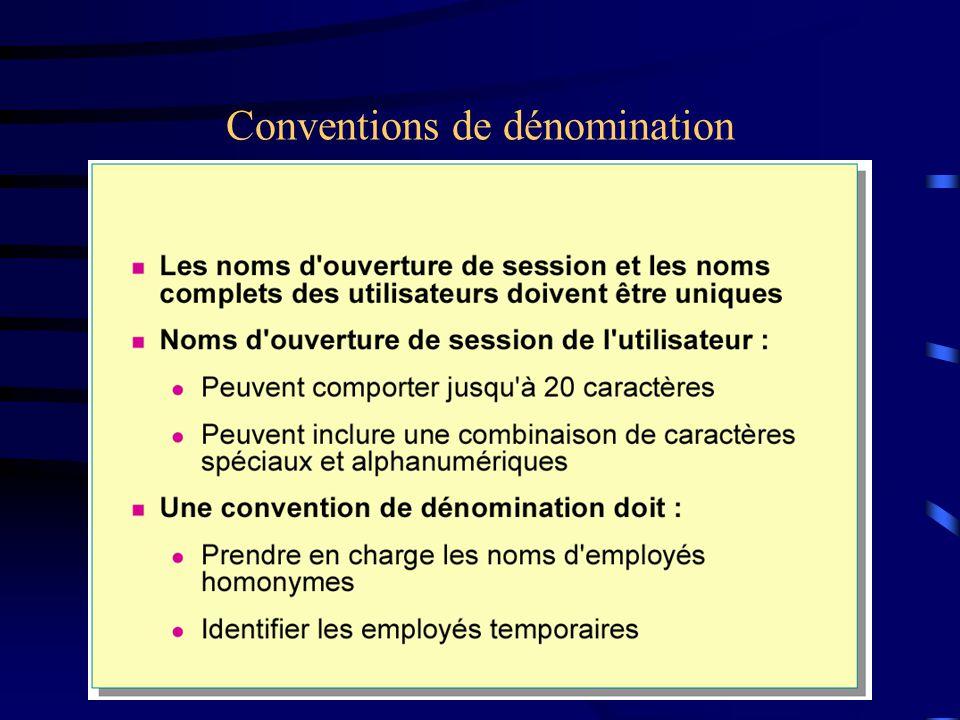 Conventions de dénomination