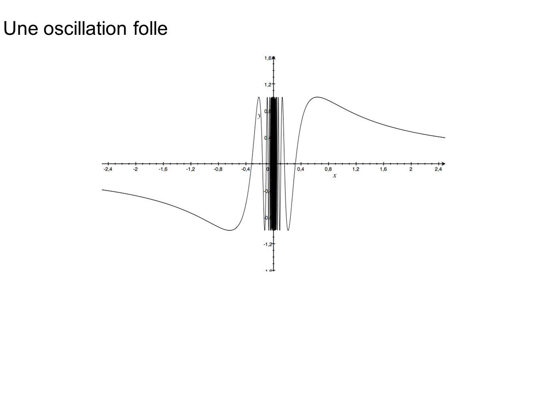 Une oscillation folle