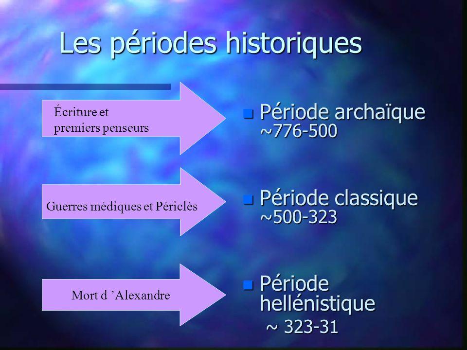 2.La période archaïque: colonisation et essor des cités-états.