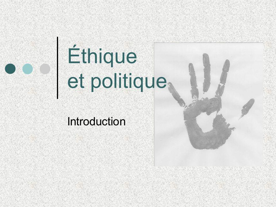 Éthique et politique Introduction
