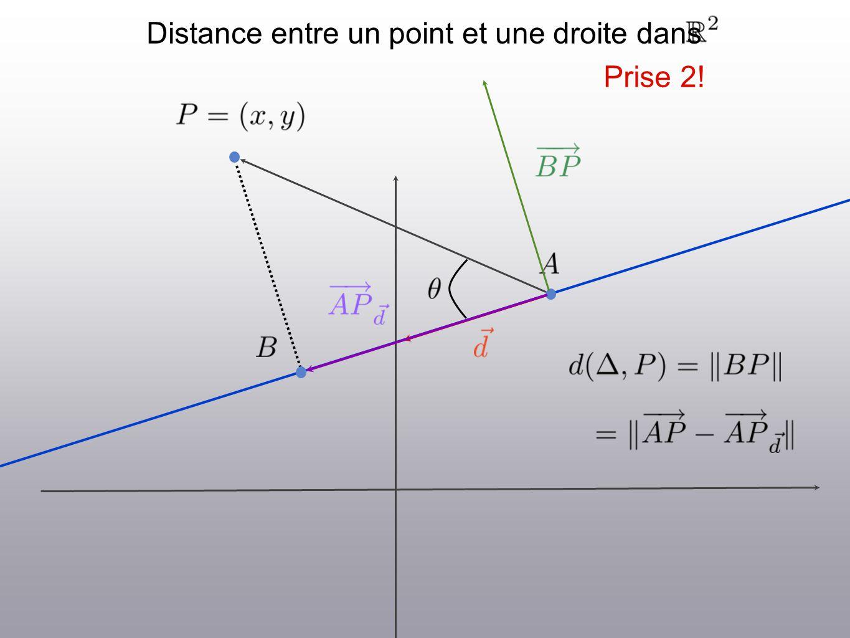 Distance entre un point et une droite dans Prise 2!