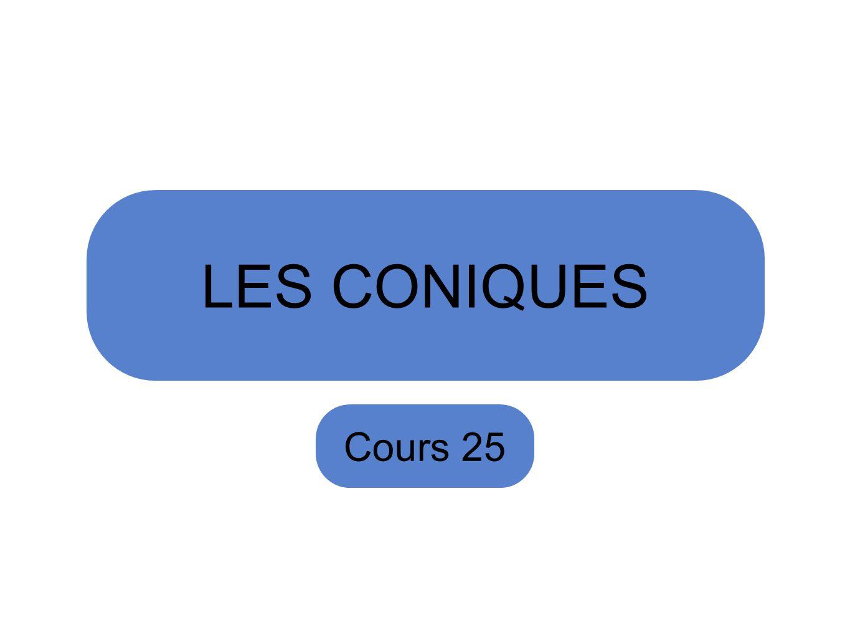 LES CONIQUES Cours 25
