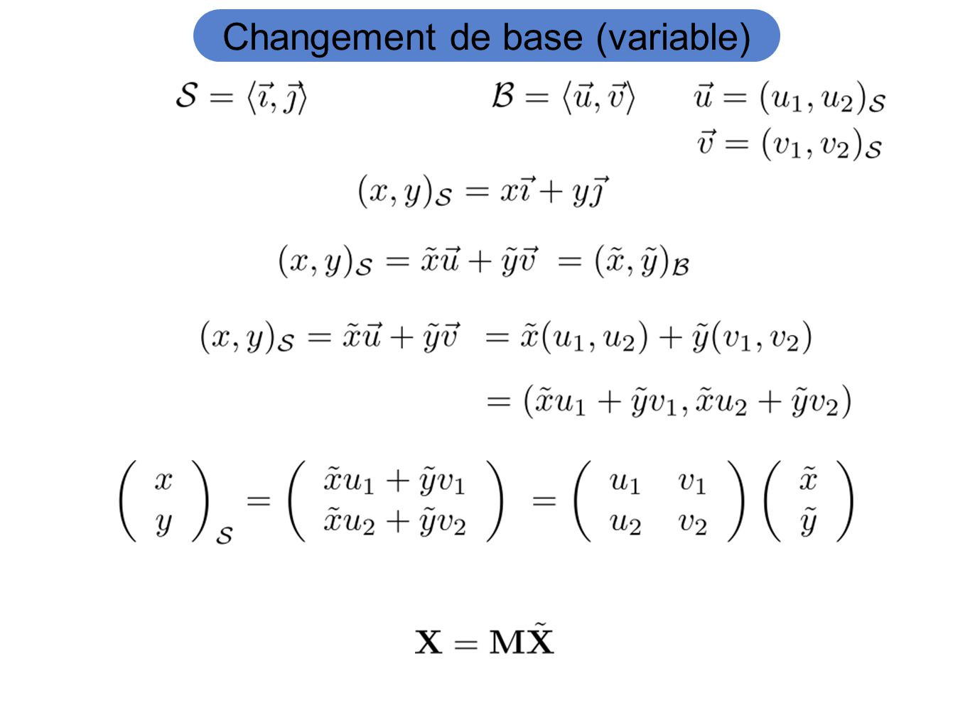 Changement de base (variable)