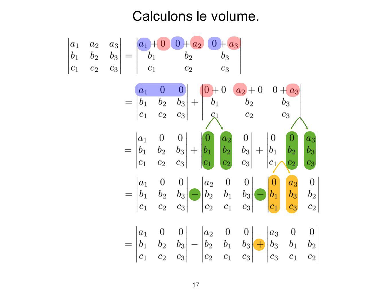 17 Calculons le volume.