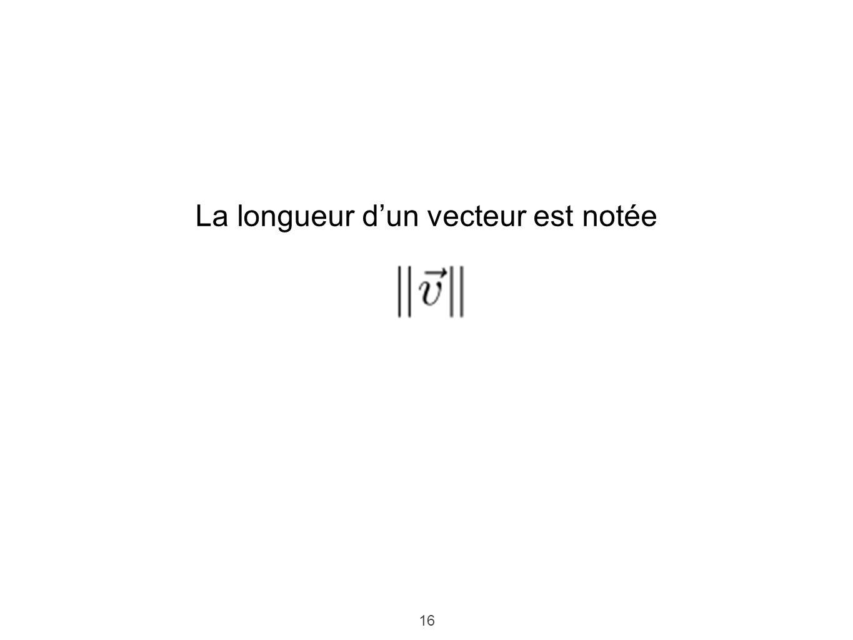 16 La longueur dun vecteur est notée