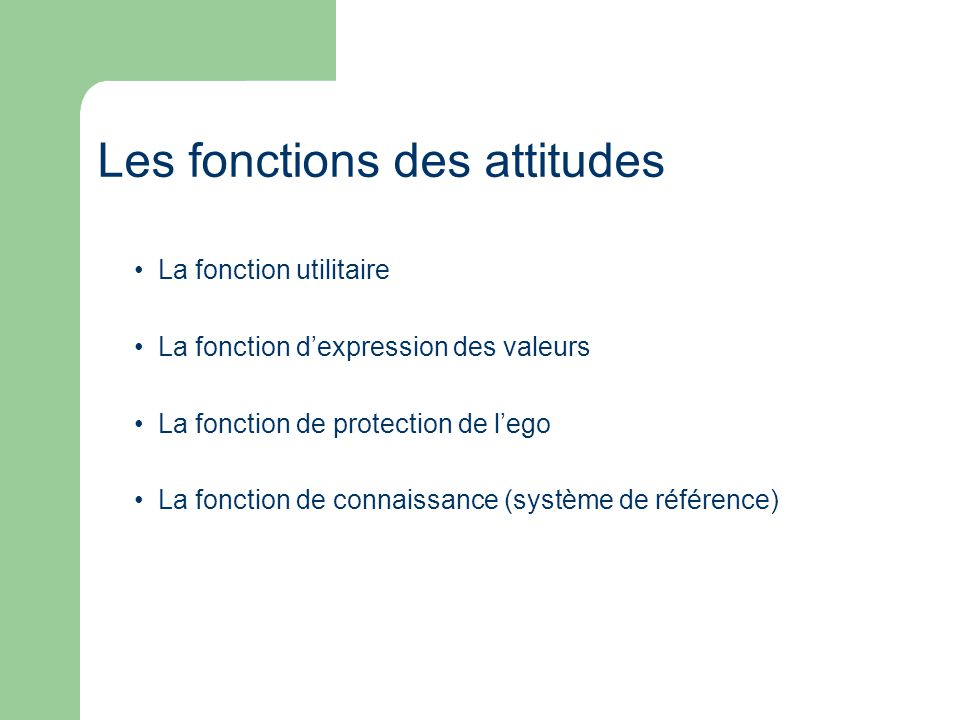 La fonction utilitaire La fonction dexpression des valeurs La fonction de protection de lego La fonction de connaissance (système de référence) Les fo