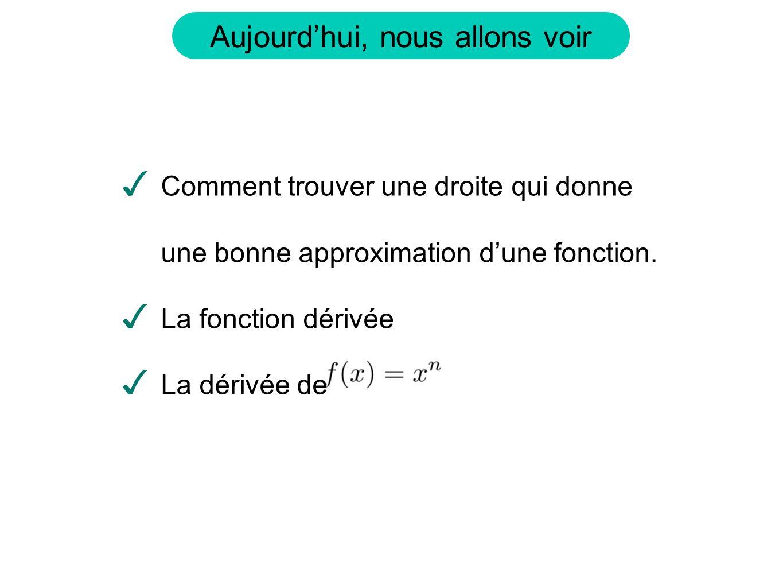 Supposons quon ait une fonction, f(x), qui modélise un phénomène.