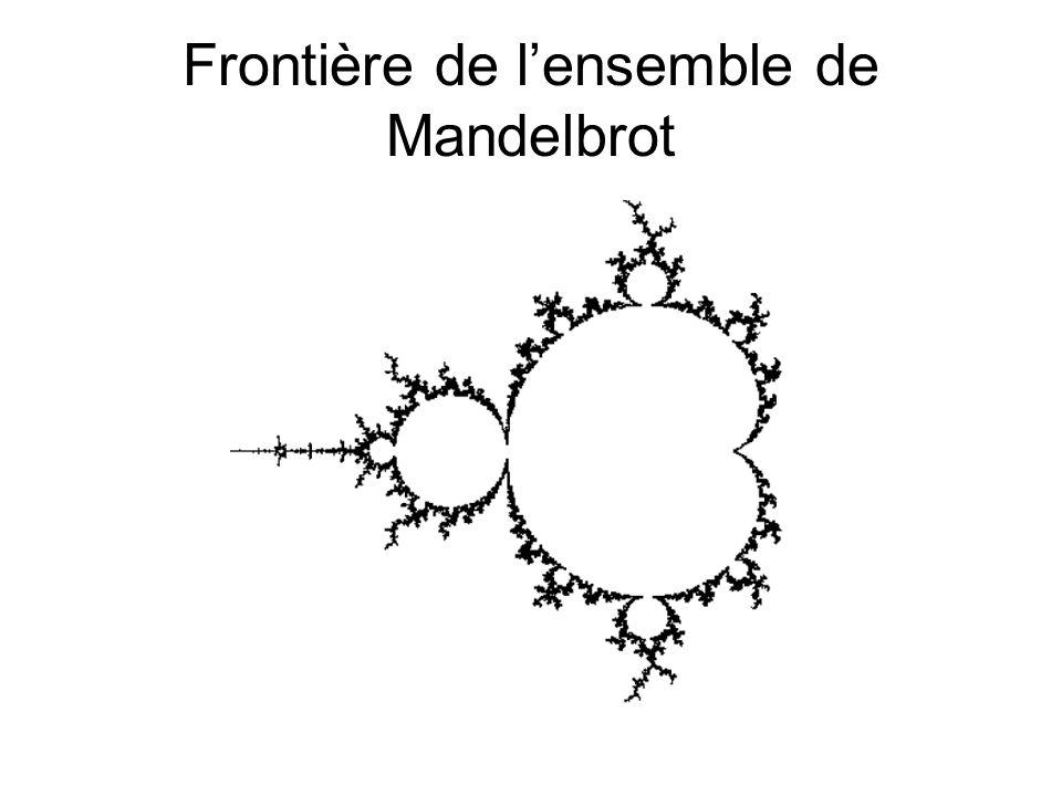 Frontière de lensemble de Mandelbrot