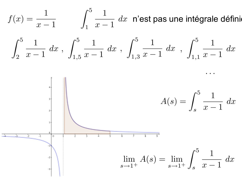 On dit que cette intégrale est impropre.
