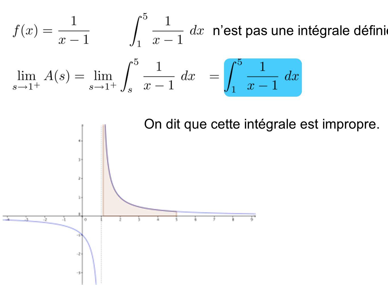Exemple: Si une intégrale impropre tend vers ou alors on dit que lintégrale diverge.