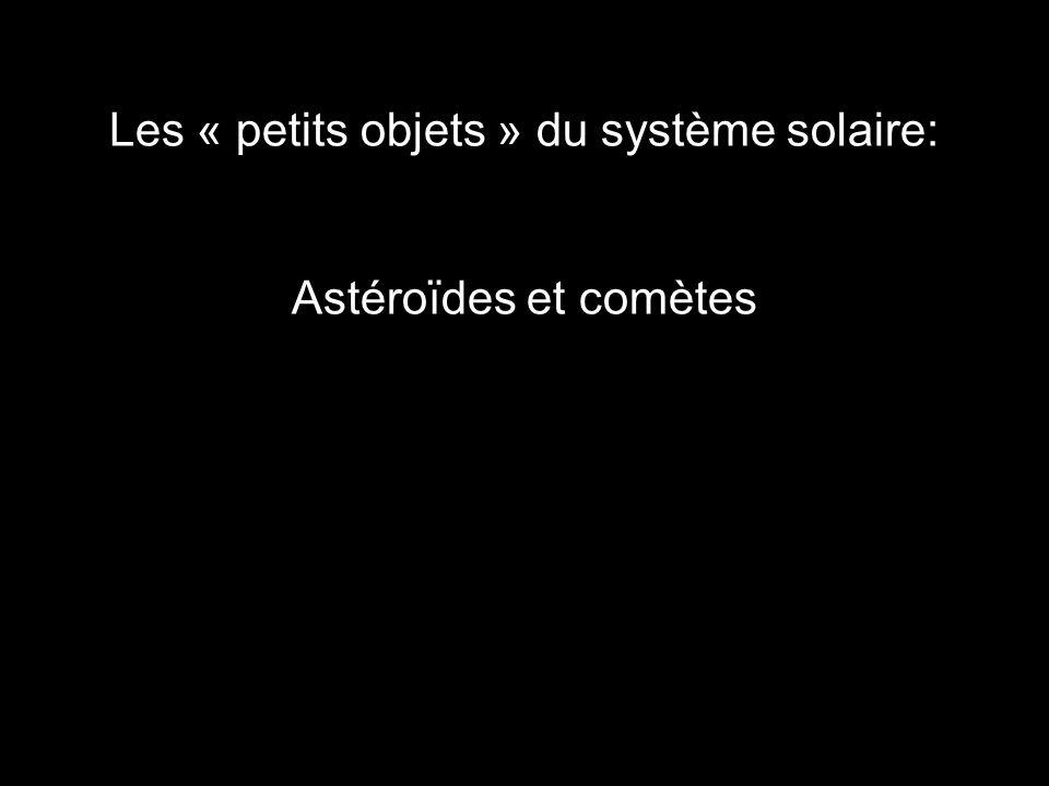 Les « petits objets » du système solaire: Astéroïdes et comètes