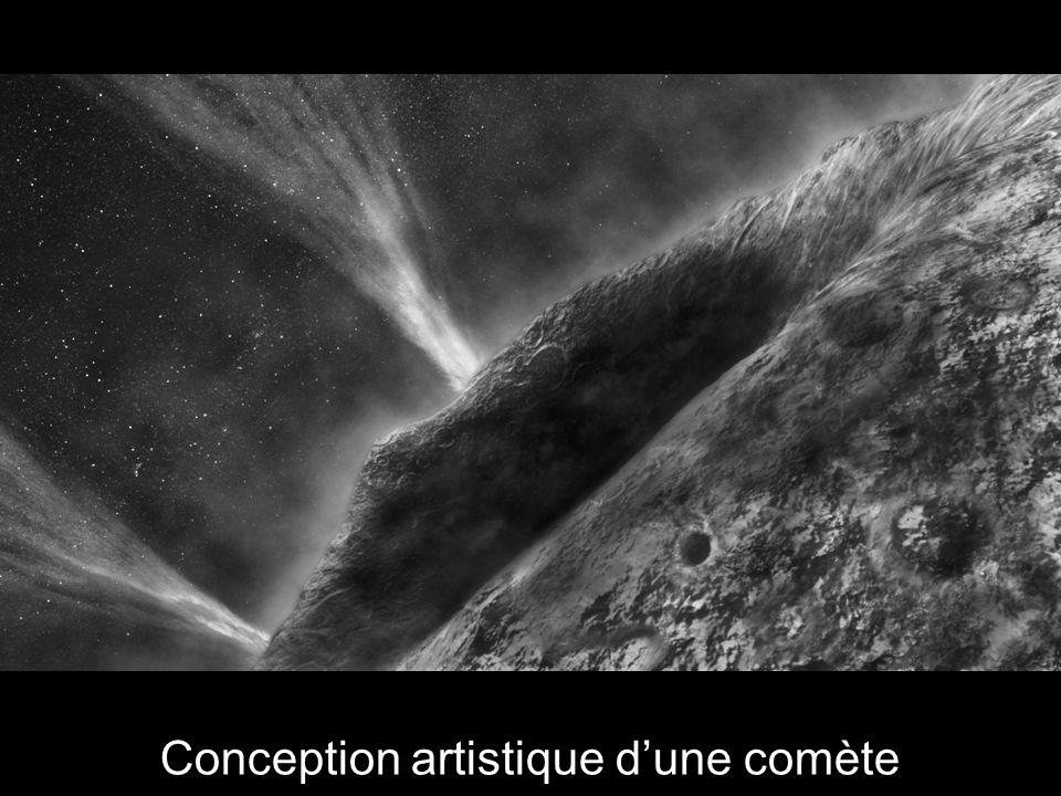 Conception artistique dune comète