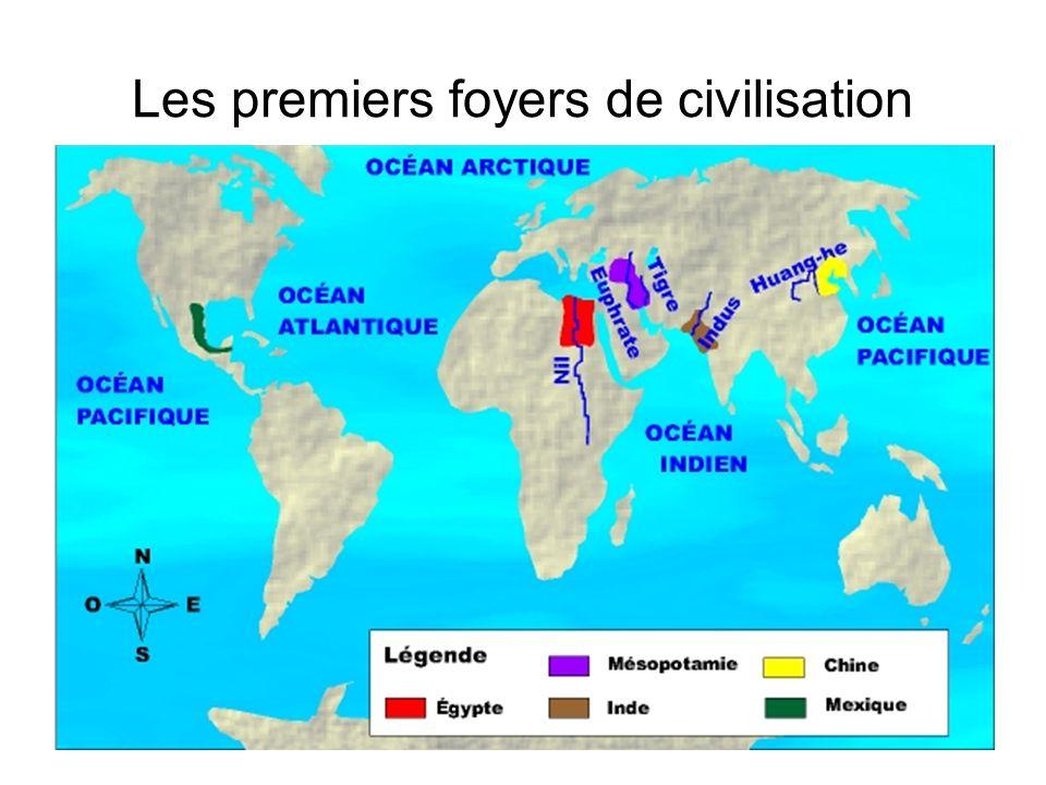 Les premiers foyers de civilisation