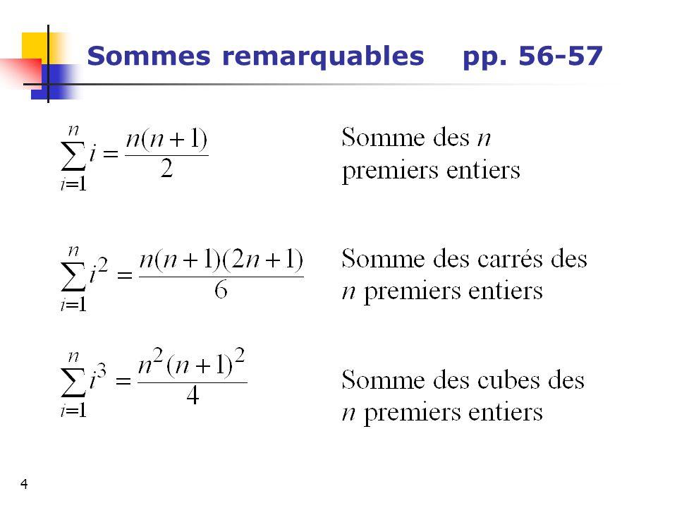 5 Détermination dune somme de n termes p.