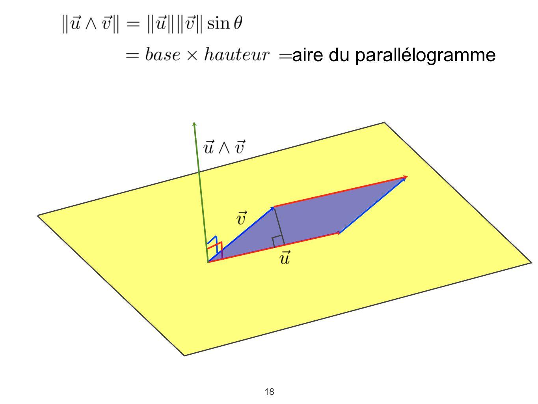 18 aire du parallélogramme