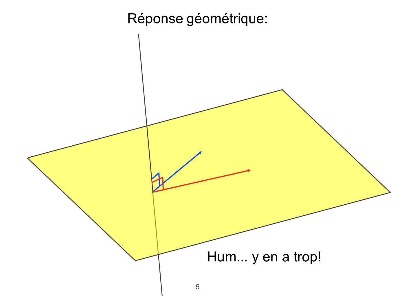5 Réponse géométrique: Hum... y en a trop!