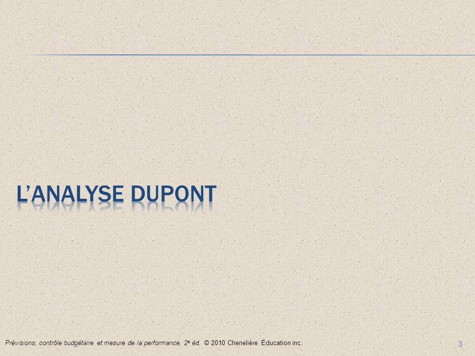 3 Prévisions, contrôle budgétaire et mesure de la performance, 2 e éd. © 2010 Chenelière Éducation inc.