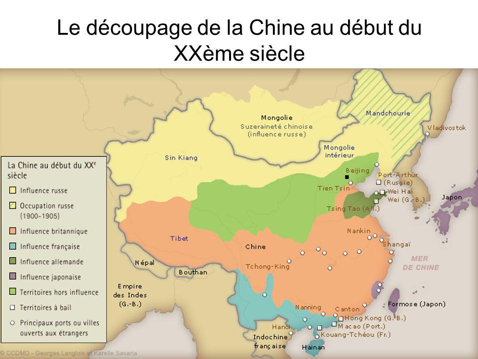 Le découpage de la Chine au début du XXème siècle