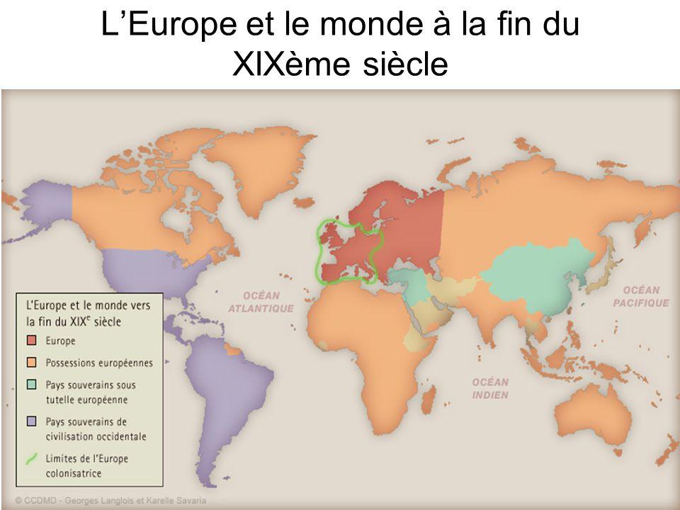 LEurope et le monde à la fin du XIXème siècle