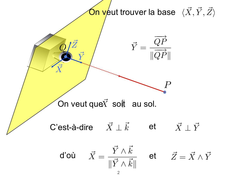 3 sont les coordonnées dans le plan de projection Donc et