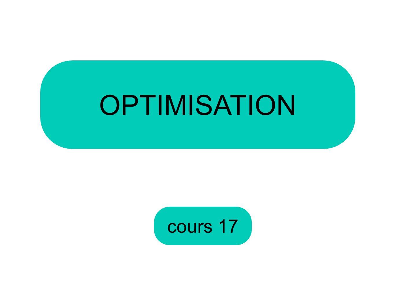 cours 17 OPTIMISATION