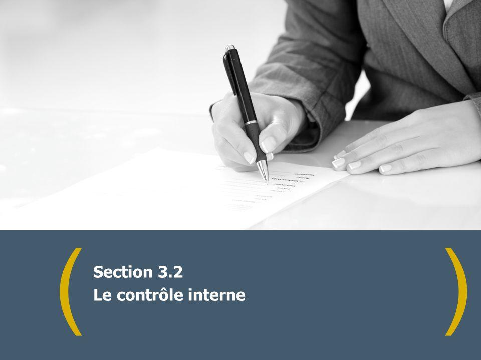 () Section 3.2 Le contrôle interne