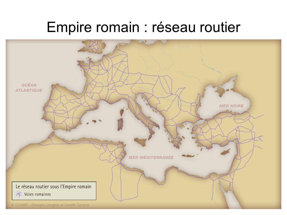 Empire romain : réseau routier