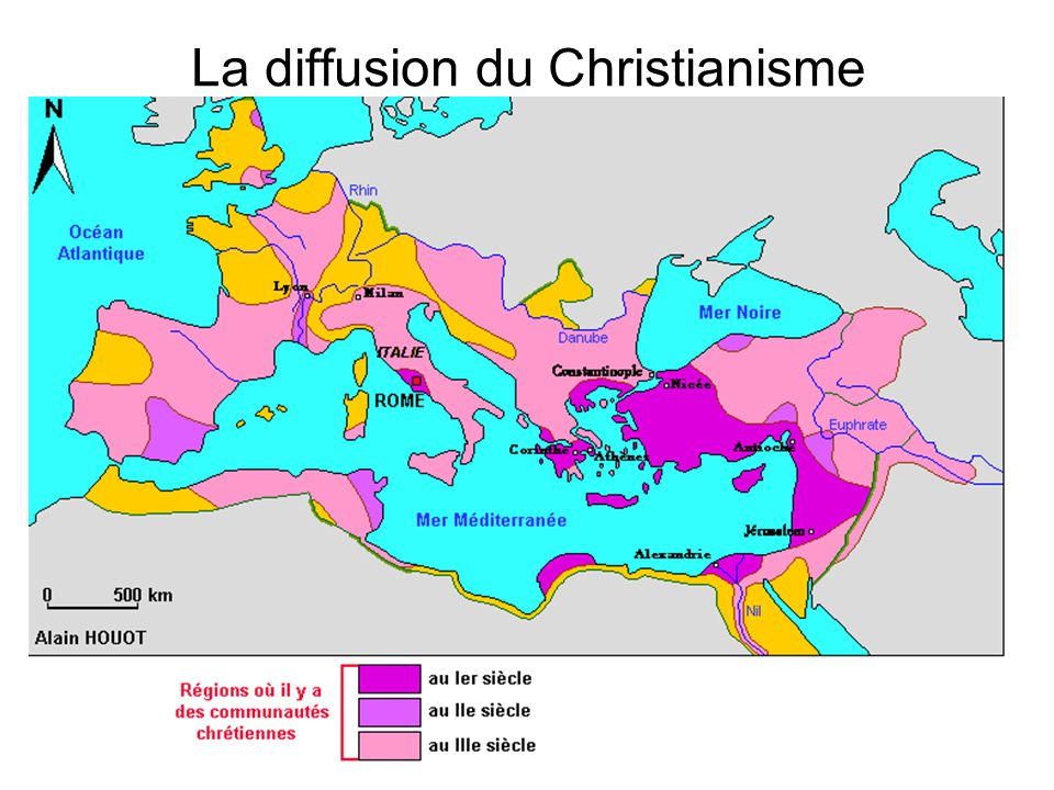 La diffusion du Christianisme