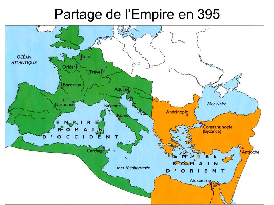 Partage de lEmpire en 395