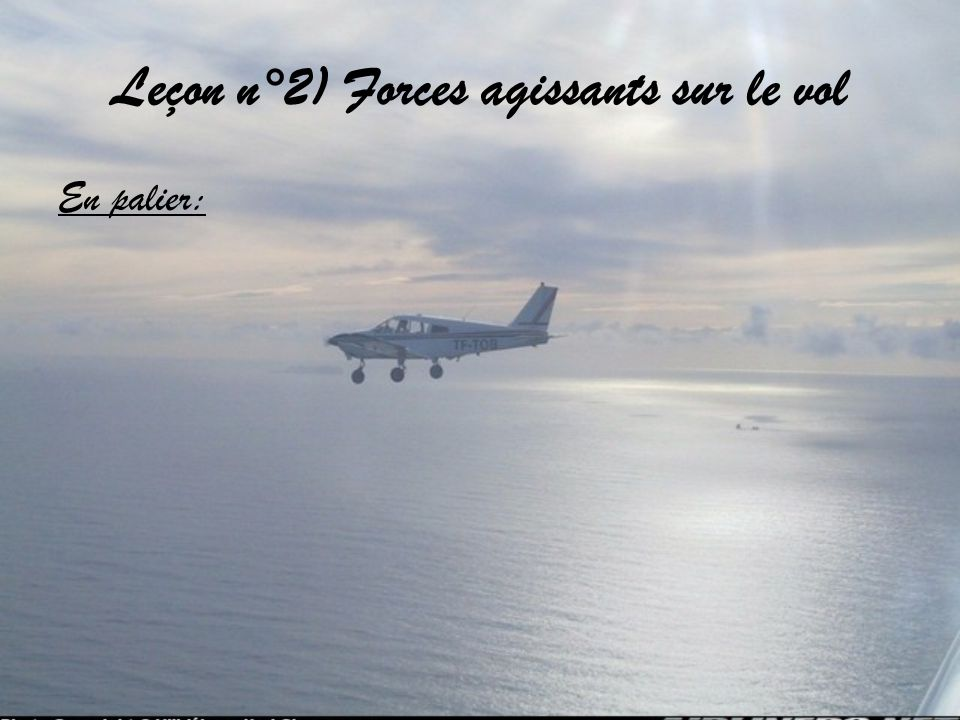Leçon n°2) Forces agissants sur le vol En palier: