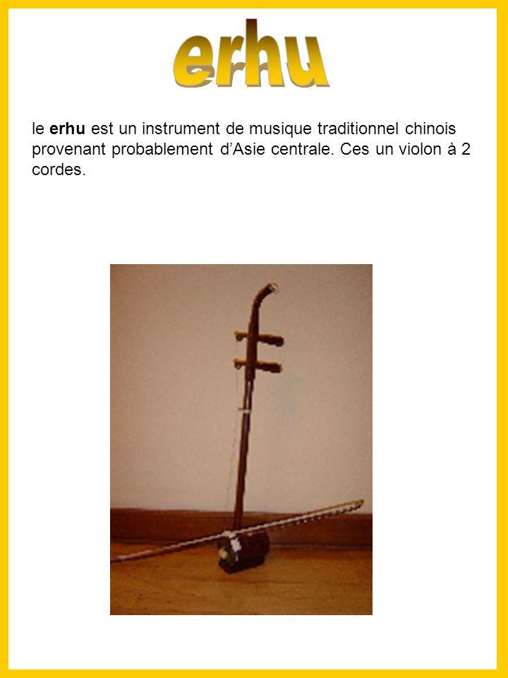 le erhu est un instrument de musique traditionnel chinois provenant probablement dAsie centrale.